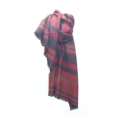 Scarf Winter T Strips Red