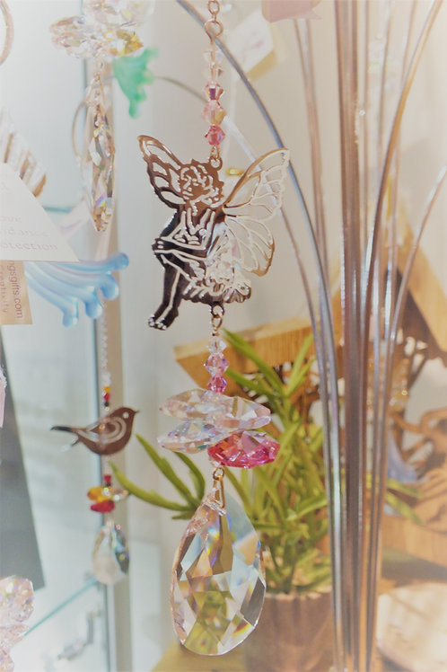 Crystal Fantasy Suncatcher - Sitting Fairy