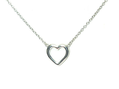 Sterling Silver Open Heart Pendant and Chain