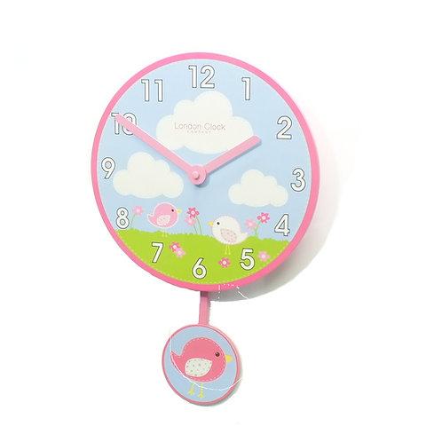 Bird Pendulum Childrens Wall Clock
