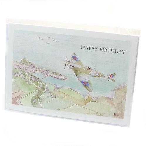 Spitfire Over Ilfracombe - Happy Birthday