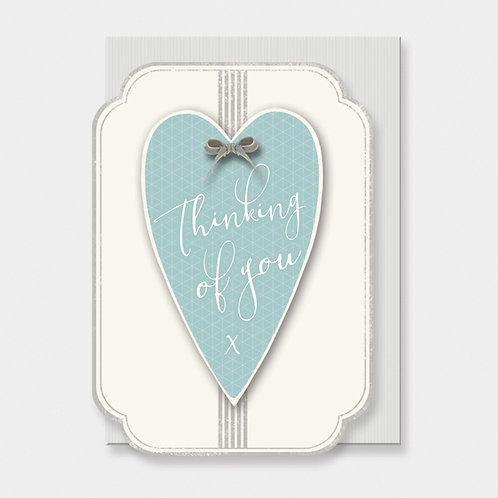 Italic Heart Card-Thinking Of You
