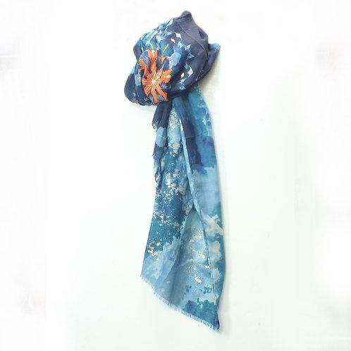 Glitter Floral - Blue
