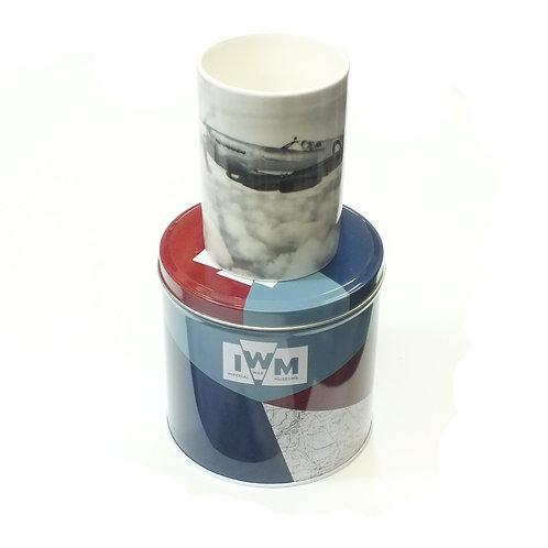I W M Collection Tin Box Gift with Photo Mug - Spitfire