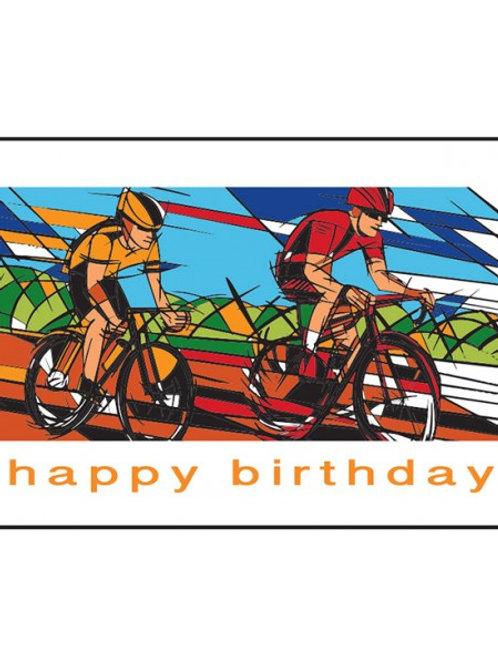 CYCLIST HAPPY BIRTHDAY CARDS