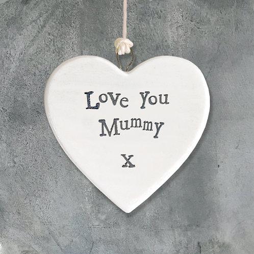 Porcelain Heart-Love You Mummy