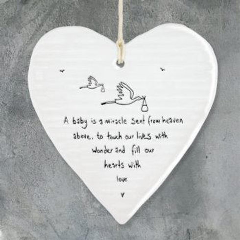 Wobbly round heart-Baby is a miracle