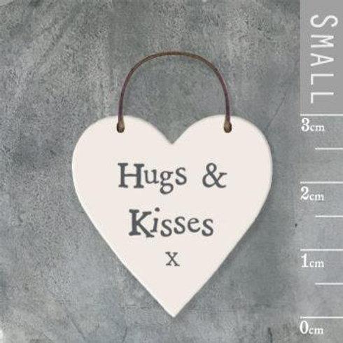 Little Heart Sign-Hugs & Kisses