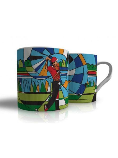 Bone China Mug Golf