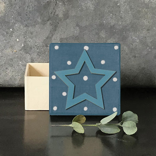 Dotty Box-Blue Star