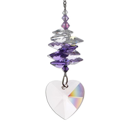 Medium Purple Cascade Heart 28mm