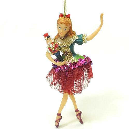 Nutcracker Clara/Sugar Plum Fairy Hanging Decoration