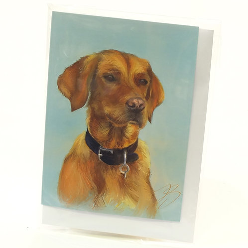 Fox Red Labrador - Greeting Card