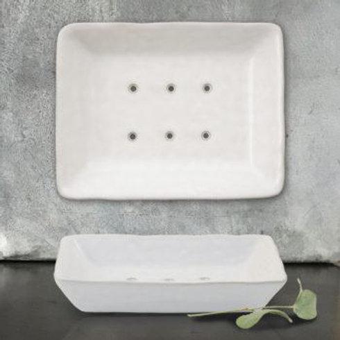 Porcelain Soap Dish-White