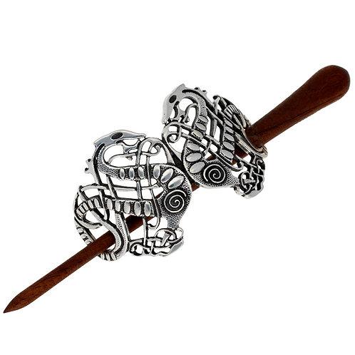 Viking Sepant Hairslide - Wooden pin