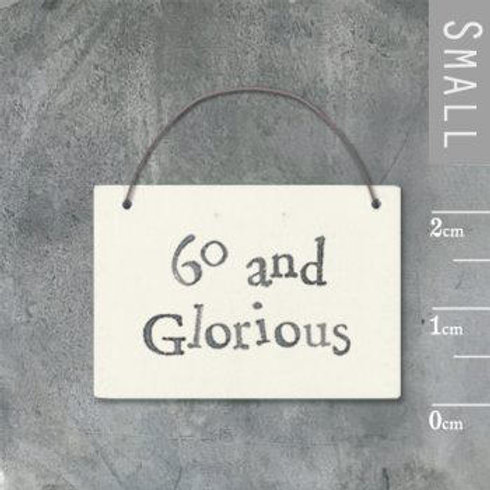 Little Word Sign - 60 & Glorious