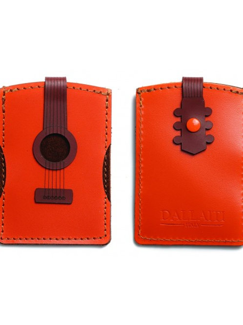 Acoustic Guitar Leather Credit Card Case