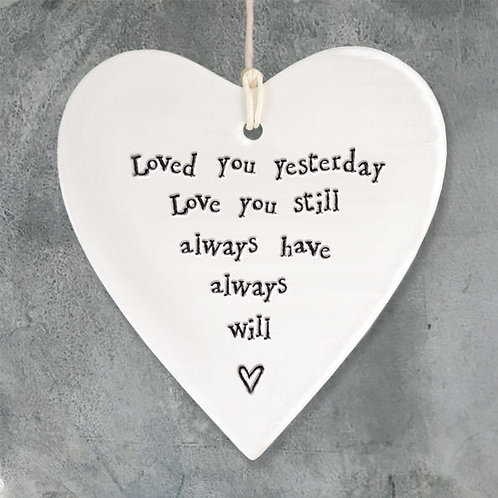 Porcelain Round Heart-Loved You