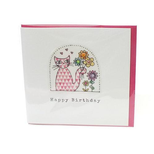 Birthday Cat - Card