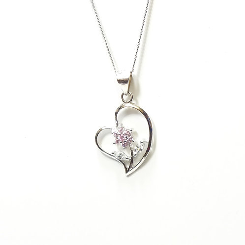 Heart with Rose Inside Pendant