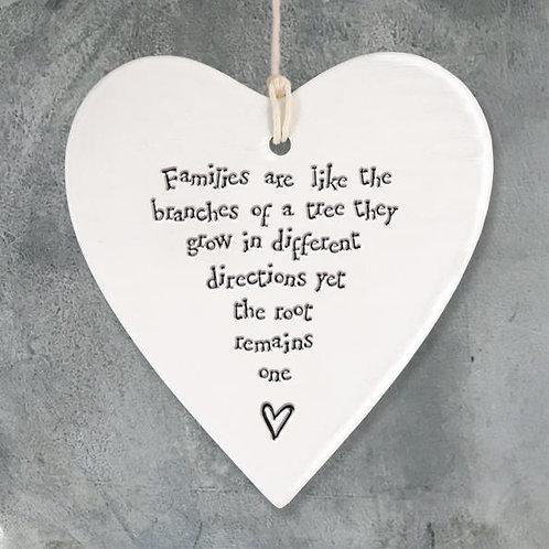 Porcelain Round Heart-Families