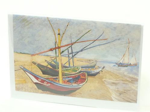 Van Gogh Boats 5 X 7 Greetings Card