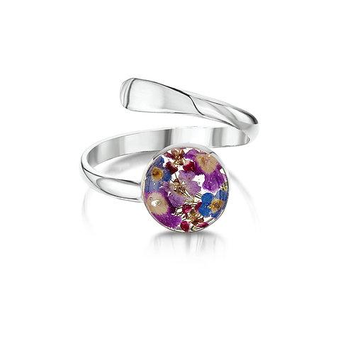 Sterling Silver Purple Haze Ring (Adjustable)