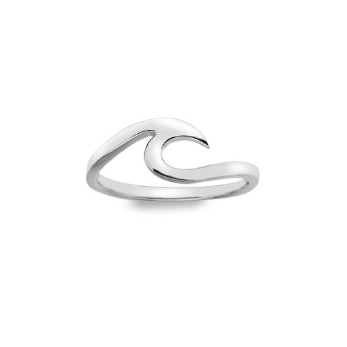 Stirling Silver Ring - Pointed Waves