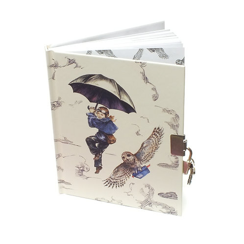 Girl and Owl Book with Lock