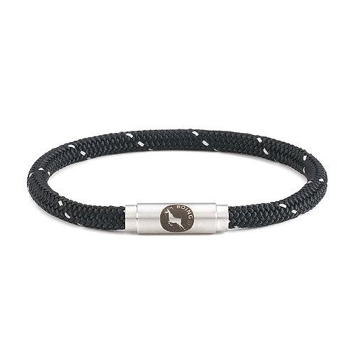 Bracelet Skinny - Black Glow - with Magnetic Catch
