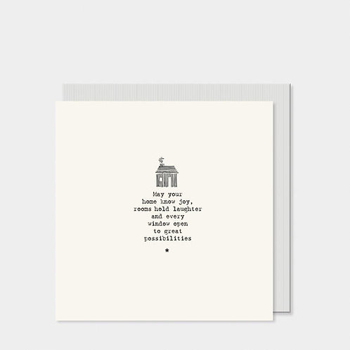 Square Card-Home / May Your Home Know Joy