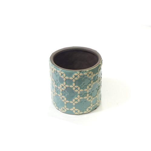 Blue Deco Planter Vase