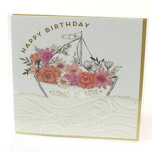 Happy Birthday Flower Boat - Jade Mosinski