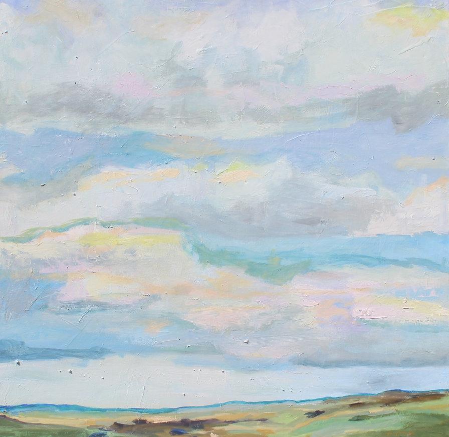 "36"" x 36"" Jill Opelka Oil on Canvas"