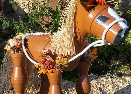 *Special Request* Horse Pot Head Sculpture