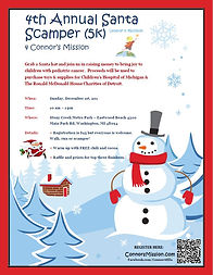 4th Annual Santa Scamper 5k flyer 2019.J