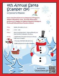 4th Annual Santa Scamper 5k flyer 2019.J