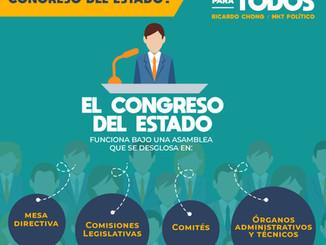 ¿Cómo funciona el congreso del estado?