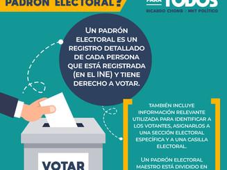 ¿Qué es el padrón electoral?