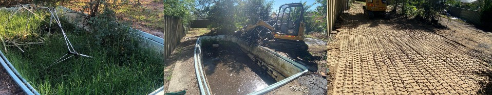 Fibreglass Pool Removal - Before and After