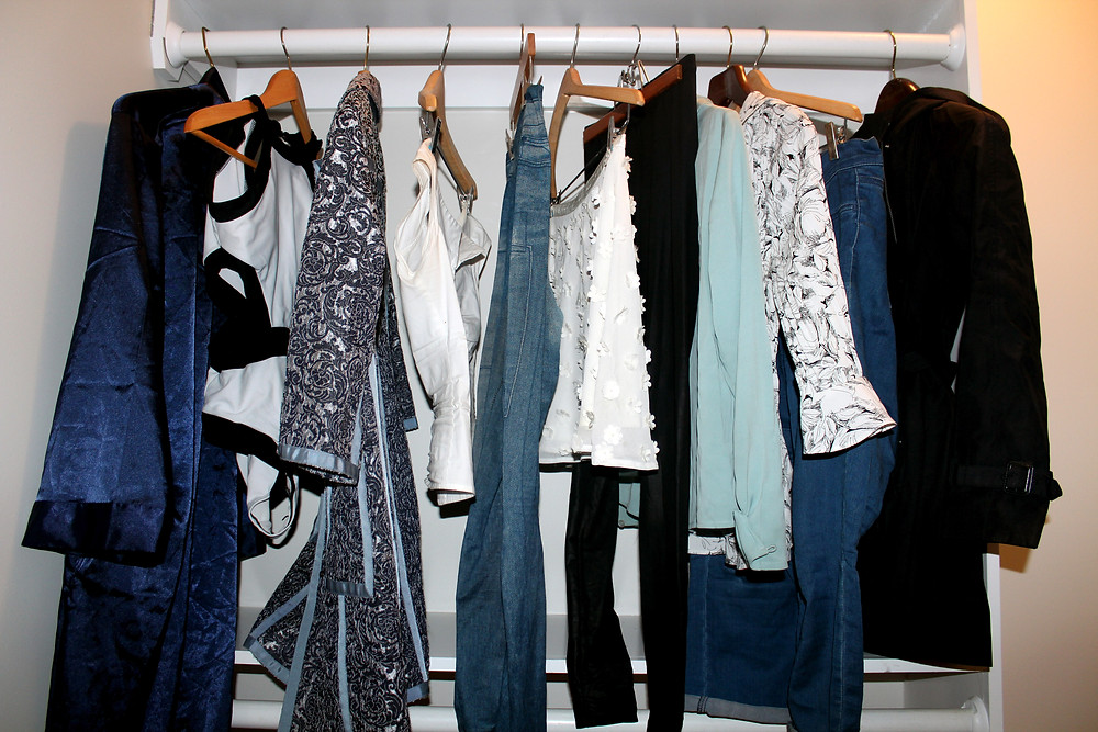 Blue, White, Black - Monochrome Wardrobe