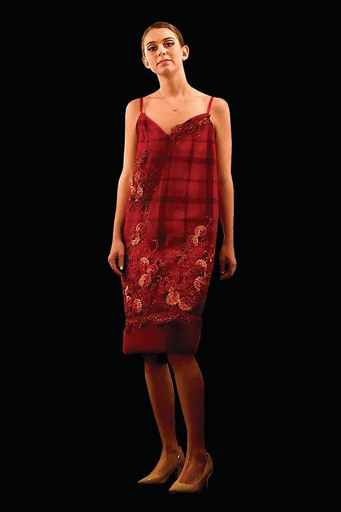 Plaid Combo Dress