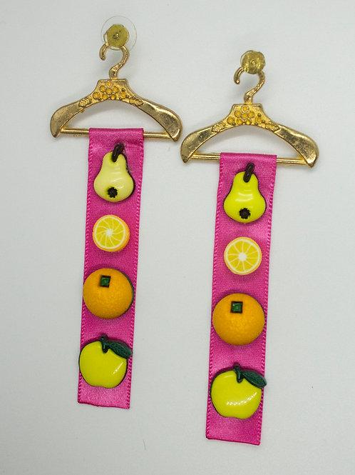Fruit Ribbon Earrings