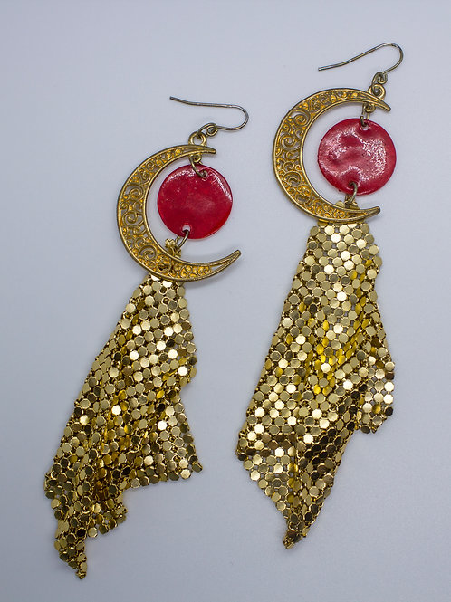 Disco Moon Earrings