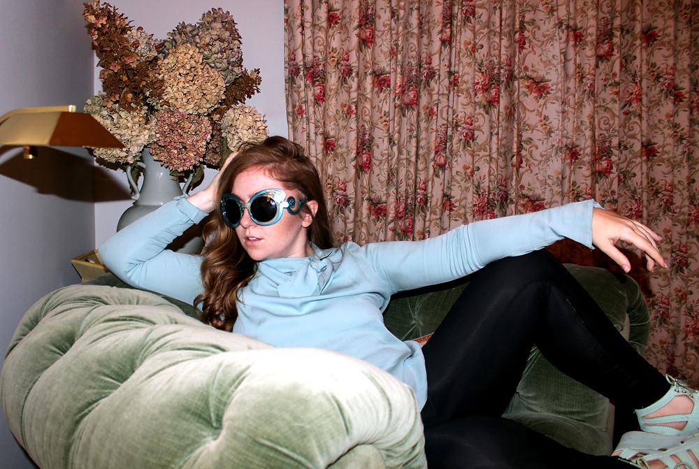 Blue Statement Sunglasses