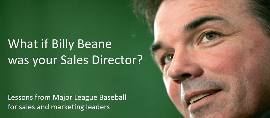 What if Billy Beane was your Sales Director?