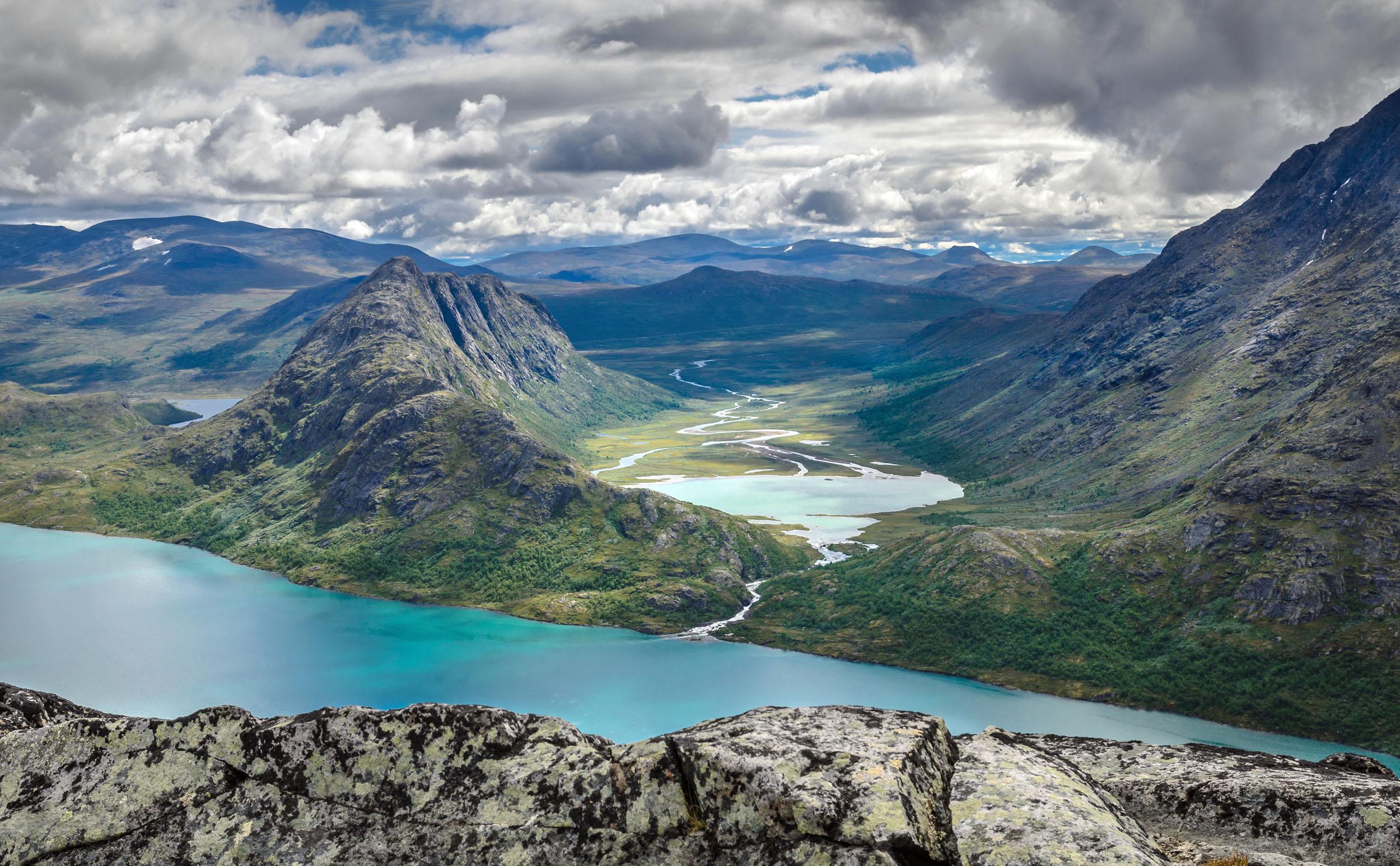 Der Besseggen in Norwegen