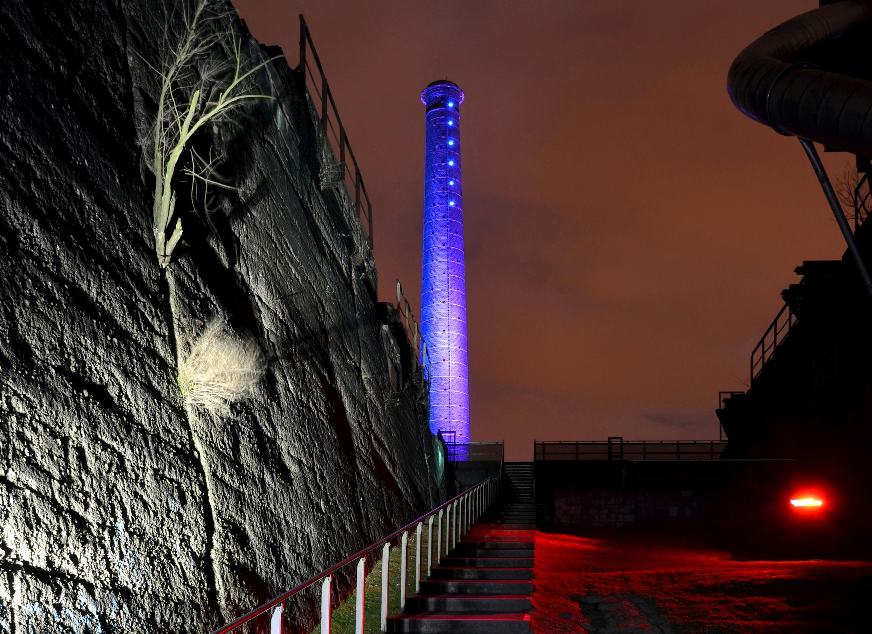 Nachts im Landschaftpark Duisburg