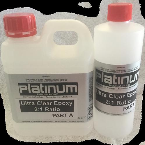 2:1 Epoxy Ultra/Super Clear Resin - 15Lt kit