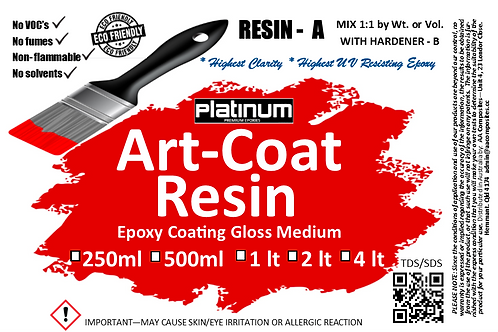 1:1 ART COAT & Doming Epoxy Resin